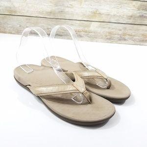 Vionic Comfort Arch Support Flip Flop Sandals Tan